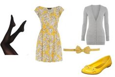 bright print...yellow and grey