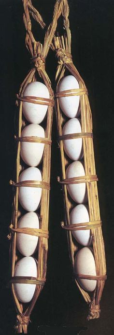 Traditional Japanese packaging bracts egg