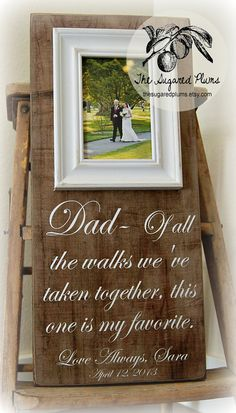 Father of the Bride Wedding Gift Personalized by thesugaredplums, $65.00