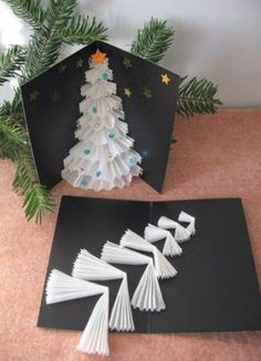 Craft Christmas Cards Diy 68 Best Ideas Christmas for you - Happy Christmas - Noel 2020 ideas-Happy New Year-Christmas Christmas Card Crafts, Homemade Christmas, Xmas Cards, Christmas Projects, Diy Cards, Holiday Crafts, Christmas Holidays, Christmas Ornaments, Simple Christmas
