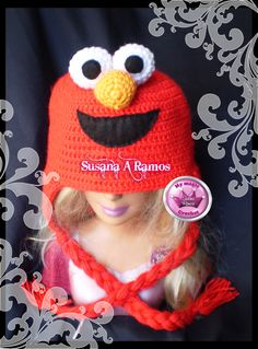 Elmo crochet Hat https://www.etsy.com/your/shops/MyMagicCrochetUS