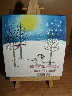 Kreativreport: Weihnachtskarte No. 1