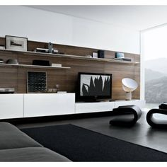 Modern Living Room Entertainment Center Design