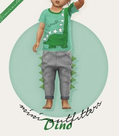 Dino Joggers Toddler Version 3T4 at Simiracle • Sims 4 Updates