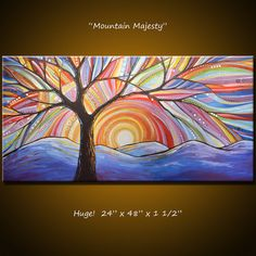 Reserved for Janet Valentine . Amy Giacomelli by AmyGiacomelli Doodle Drawing, Rainbow Art, Tree Art, Painting Inspiration, Online Art, Original Paintings, Art Paintings, Art Projects, Abstract Art