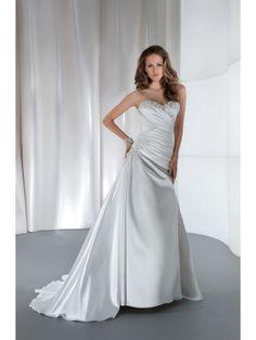 A-line Sweetheart Court Train Wedding Dresses 1501028