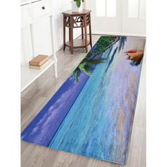 Coral Fleece Absorbent Beach Area Rug - COLORMIX W16INCH*L47INCH