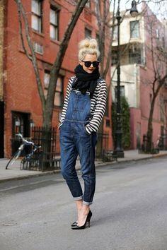 Denim overalls - plus 5 other ways to wear denim this month