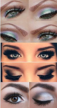 Smokey eyes in the middle