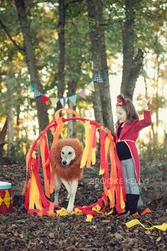 it's settled.... baby's first halloween will be a lion tamer, with Roo as a lion