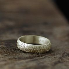 Stardust Textured Ring in 14K, $458 | 34 Unconventional Wedding Band Options For Men