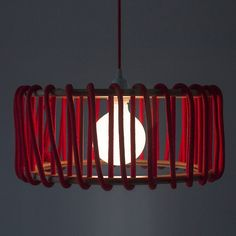 Macaron Oak Lamp, Red -  - Lights - EMKO - Space & Shape - 9