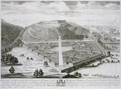Belvoir Castle, [Leicestershire]: bird's-eye view, from Thomas Badeslade and John Rocque's 'Vitruvius Brittanicus, volume the fourth',  London 1739