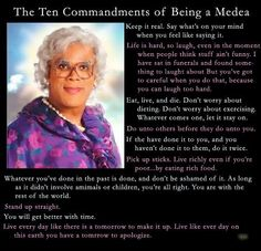 The Plays  http://amzn.to/11UNBC5  Ten Commandments of Being a Madea