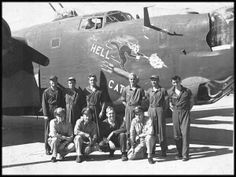 """& crew """"The Hellcat """"before 7 Dec 1943 Ww2 Aircraft, Military Aircraft, The Mighty Eighth, American Air, Aircraft Painting, Airplane Art, Old Farm Equipment, Ww2 Planes, Vintage Airplanes"""