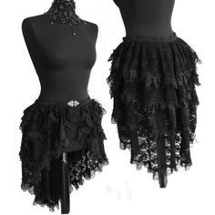 Bustle skirt Segura, burlesque, victorian, steampunk, boudoir, black lace, Somnia Romantica by Marjolein Turin