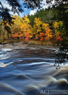 Presque Isle River, Porcupine Mountains State Park,  Upper Michigan; photo by .Aaron C. Jors