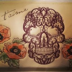 Embroidery on handbag by #jennyjeshko