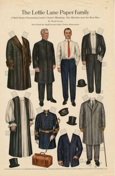 75.2761: The Lettie Lane Paper Family: The Minister and The Best Man | paper doll | Paper Dolls | Dolls | National Museum of Play Online Collections | The Strong