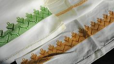 Pair of Vintage Hand Embroidered Tea Towels Huck by handmaidmarian, $13.25