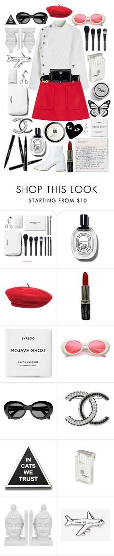 """""""Fashion week"""" by styling-w-mabel ❤ liked on Polyvore featuring Brixton, Manic Panic NYC, Byredo, Comme des Garçons, Acne Studios, Chanel, Dunhill, Three Hands and Valley Cruise Press"""