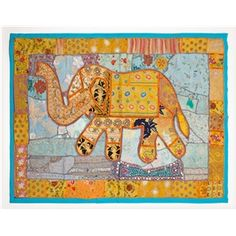 Home decor articles Marigold, Elephant, India, Wall, Blue, Home Decor, Goa India, Decoration Home, Room Decor