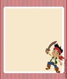 Nuevos modelos de Tarjetitas imprimibles de Jake el Pirata!. Con estos diseños podrás inspirarte y aplicar los mismos para lo que precises, un ejemplo para adornar un regalo de cumpleaños para amig…