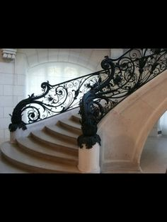 Art Nouveau Staircase Too fussy but I like the curves and ironwork. Pinned for inspiration and atmosphere Art Nouveau, Grande Cage D'escalier, Escalier Design, Interior And Exterior, Interior Design, Interior Ideas, Goth Home, Banisters, Railings