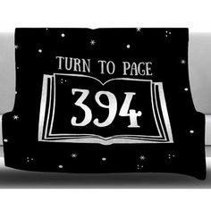 "East Urban Home Turn to Page 394 by Jackie Rose Fleece Blanket Size: 50"" W x 60"" L"