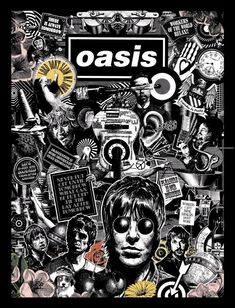Oasis Black and White Art Print/Poster Music Band Rock Poster, Rock Band Posters, Oasis Band, Banda Oasis, Lookscreen Iphone, Oasis Album, Band Wallpapers, Noel Gallagher, Britpop
