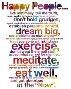 How many of these things do you incorporate into your daily life?