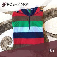 Fleece Striped Top Fleece Longsleeve | Good used condition | Bundle and Save Shirts & Tops Sweatshirts & Hoodies