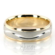 Wave #Design Two-Tone Wedding Ring #Wedding #Band #weddingband #ring #25karats