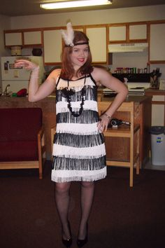 The flapper costume i made for a twenties themed party do you dig it