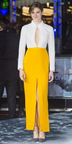 Look of the Day - March 16, 2015 - Shailene Woodley in Emilia Wickstead from #InStyle