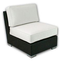 Outdoor Patio Heaven Signature Armless Center Chair