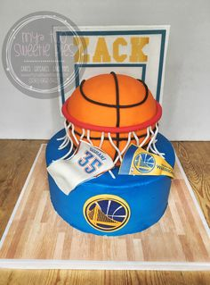 Golden state Warriors cake Celebration Cakes, Birthday Celebration, Birthday Parties, Golden Birthday, 10th Birthday, Basketball Party, Basketball Cakes, Cakes For Boys, Boy Cakes
