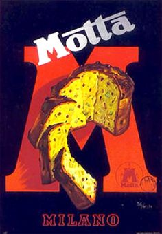 Vintage Italian Pannetone Poster