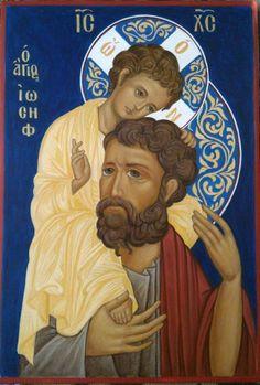 St Joseph Catholic, Catholic Art, Catholic Saints, Religious Images, Religious Icons, Religious Art, Christian Artwork, Christian Images, Byzantine Icons
