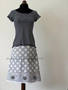 I´d love to sew a skirt like this!/ Diesen Rock würde ich gern mal nähen