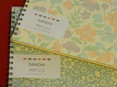 SANDIA  Cuadernos A4 apaisados. 70 hojas lisas. Tapa dura. Diferentes motivos.
