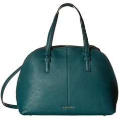 Vera Bradley Diana Satchel (Forest Green/Black) Satchel Handbags ($155) ❤ liked on Polyvore featuring bags, handbags, colorblock, green, satchel handbags, zipper purse, forest green handbags, vera bradley handbags and satchel bag