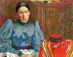 Cuno Amiet  Portrait of Emilie Amiet-Baer  1894  http://stilllifequickheart.tumblr.com/post/45023835830/cuno-amiet-portrait-of-emilie-amiet-baer-1894