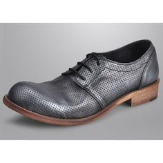 Metallic Gray Leather Retro Vintage Wedding Prom Dress Shoes for Men SKU-1100981
