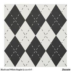 Black and White Argyle Fabric