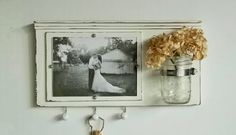 Shabby+Chic+White+Wood+Picture+Frame...Key+by+cottagehomedecor,+$30.00