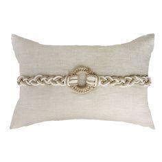 Knot Rope Beige Cream Lumber cushion 35x53cm - Bandhini Homewear Design