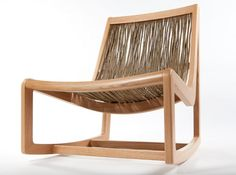 Easy Willow Rocker by Boex: Hand sprung willow branches to mold to the contours of your body. #Rocking_Chair #Willow_Rocker #Boex