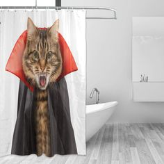 Vantaso Shower Curtains 66x72 inch Fierce Cat Halloween Dress Waterproof for Bathroom Kids Boys Girls Adults * For more details, see photo link. (This is an affiliate link). Halloween Dress, Halloween Cat, Halloween Shower Curtain, Photo Link, Bathroom Kids, Shower Curtains, Kids Boys, Boy Or Girl, Bathtub