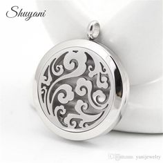 Fashion Essential Oils Diffuser Locket Aromatherapy Locket Pendant Stainless Steel 30mm Round Silver Plated with Free Pads Round Locket Stainless Steel Locket Floating Locket Online with $4.99/Piece on Yanijewelry's Store   DHgate.com